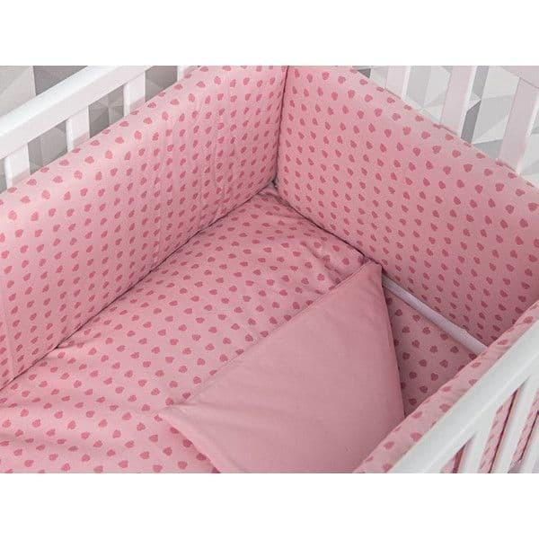 4019217d5a1 Σετ προίκας Picci για λίκνο Lella Hearts pink - Προίκα μωρού στο ...