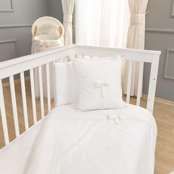 14da7748393 Σετ σεντόνια 3τμχ Funna Baby σχέδιο Premium white - Προίκα μωρού στο ...