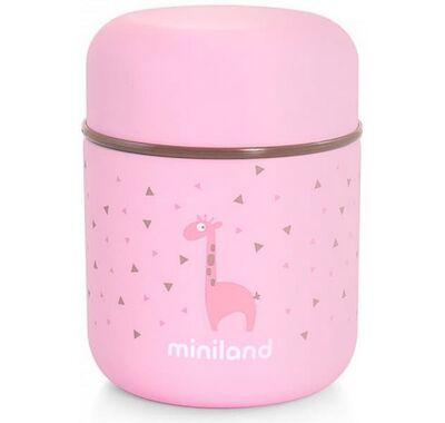 Θερμός φαγητού Silky Food Thermos Mini Pink 280ml στο Bebe Maison