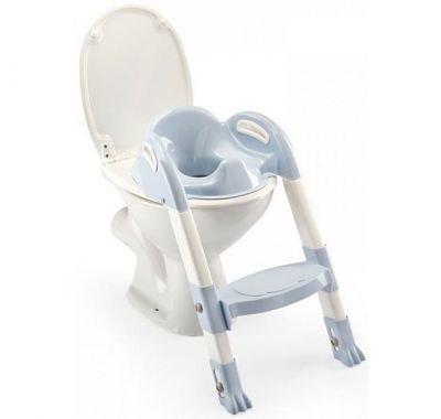 Στεφάνι WC με σκαλοπάτι Thermobaby Kiddyloo Toilet Trainer Light Blue στο Bebe Maison