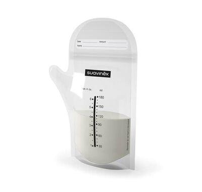 Σακουλάκια αποθήκευσης μητρικού γάλακτος 180ml Suavinex 25τμχ στο Bebe Maison