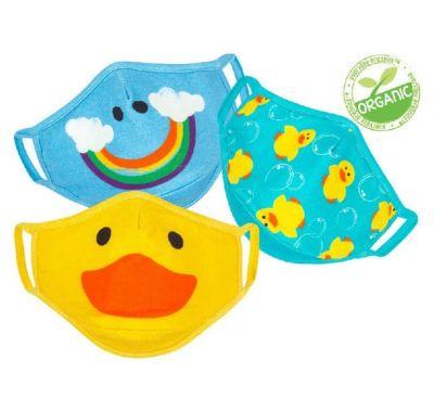 Παιδικές μάσκες από οργανικό βαμβάκι Zoocchini 3 τμχ Duck Multi στο Bebe Maison