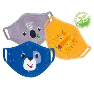 Παιδικές μάσκες από οργανικό βαμβάκι Zoocchini 3 τμχ Dog Multi στο Bebe Maison