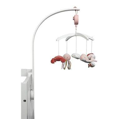 Μόμπιλε κρεβατιού Ocean Pink με λευκό βραχίονα στο Bebe Maison