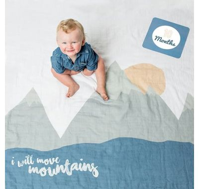 Βρεφικό σετ δώρου με milestones Lulujo I Will Move Mountains στο Bebe Maison