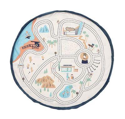 Στρώμα παιχνιδιού - τσάντα 2 σε 1 Play & Go L.A. roadmap στο Bebe Maison