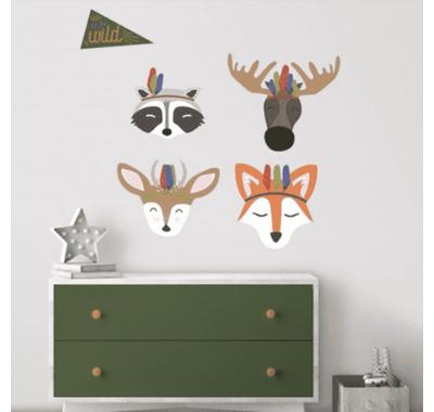 Αυτοκόλλητα τοίχου μεγάλο RoomMates Ζώα του Δάσους στο Bebe Maison