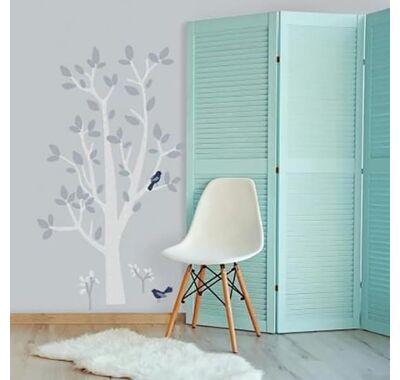 Αυτοκόλλητα τοίχου RoomMates Δέντρο λευκό-γκρι στο Bebe Maison