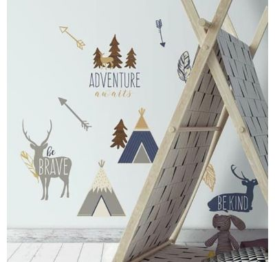 Αυτοκόλλητα τοίχου RoomMates Κάμπινγκ στον Αρκτικό κύκλο στο Bebe Maison