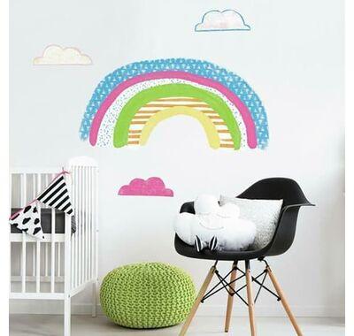 Αυτοκόλλητα τοίχου RommMates Ουράνιο τόξο & σύννεφα στο Bebe Maison