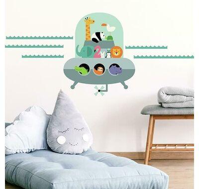 Αυτοκόλλητα τοίχου RoomMates Ζωάκια-ufo στο Bebe Maison