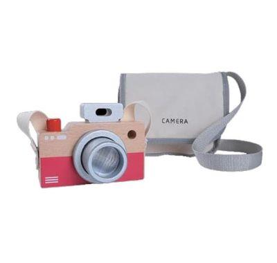 Παιδική ξύλινη φωτογραφική μηχανή Gerardo's με υφασμάτινη θήκη στο Bebe Maison