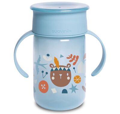Εκπαιδευτικό ποτήρι με λαβές Suavinex Forest Blue 12+ μηνών 340ml στο Bebe Maison