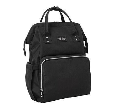 Τσάντα αλλαξιέρα/ σακίδιο πλάτης Kikka Boo Siena Black & Silver στο Bebe Maison
