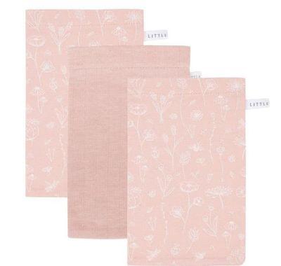 Σετ 3 πανάκια μπάνιου Little Dutch Wild Flowers Pink στο Bebe Maison