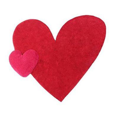Χαλί δωματίου Lorena Canals Puffy Agatha με μαξιλάρι Καρδιά 160x180 εκ. στο Bebe Maison