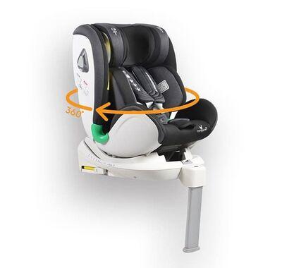 Κάθισμα αυτοκινήτου Cangaroo Commodore 360° isofix με υποπόδιο Black στο Bebe Maison