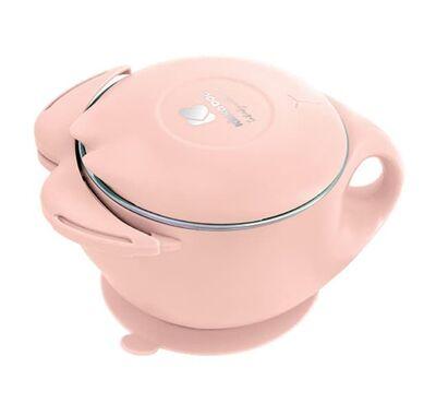 Ανοξείδωτο θερμός φαγητού 400ml Kikka boo Cat pink στο Bebe Maison