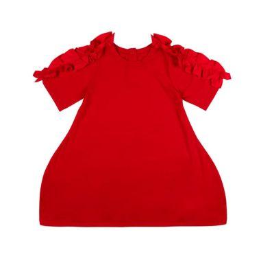 """Παιδικό φόρεμα The Tiny Universe """"Snake Shoulder Dress"""" Sharp Red στο Bebe Maison"""