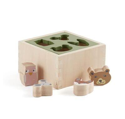 Ξύλινο παιχνίδι ταξινόμησης σχημάτων με ζωάκια kids Concept Edvin στο Bebe Maison