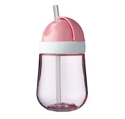 Εκπαιδευτικό ποτηράκι Mepal με καλαμάκι 300ml ροζ στο Bebe Maison