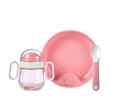 Βρεφικό σετ φαγητού Mepal 3 τεμαχίων ροζ στο Bebe Maison