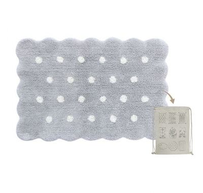 Χαλί Mini Biscuit Pearl Lorena Canals Grey 70 x 100 εκ στο Bebe Maison