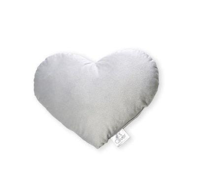 Διακοσμητικό μαξιλάρι Baby Oliver Καρδιά βελουτέ γκρι σχέδιο 142 στο Bebe Maison