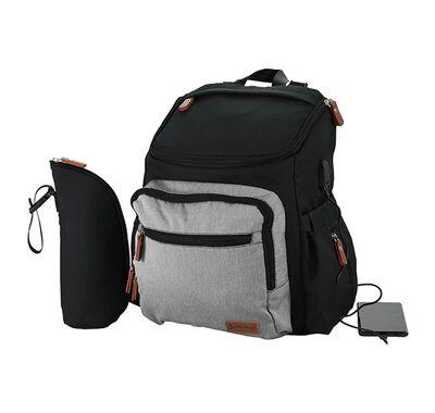 Τσάντα αλλαξιέρα Bebe Stars με USB grey στο Bebe Maison