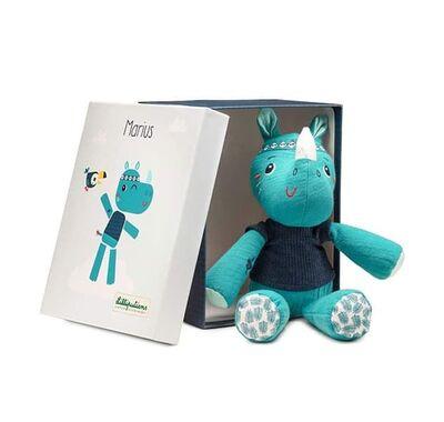Ζωάκι Lilliputiens Μάριους σε κουτί δώρου στο Bebe Maison