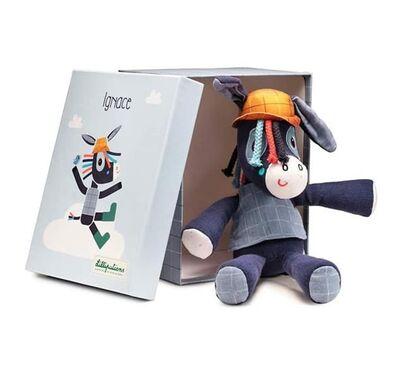 Ζωάκι Lilliputiens Ignace σε κουτί δώρου στο Bebe Maison