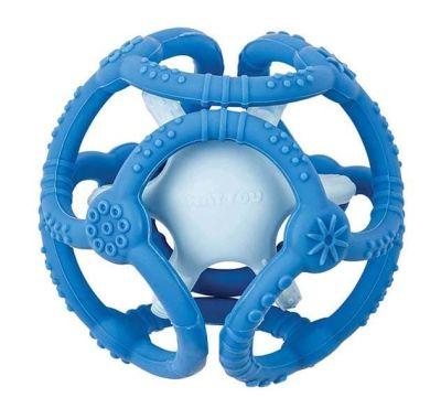 Μασητικό σετ 2 μπάλες σιλικόνης Nattou μπλε-γαλάζιο στο Bebe Maison