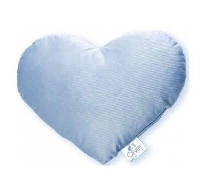 Διακοσμητικό μαξιλάρι Baby Oliver Καρδιά βελουτέ σιέλ σχέδιο 140 στο Bebe Maison