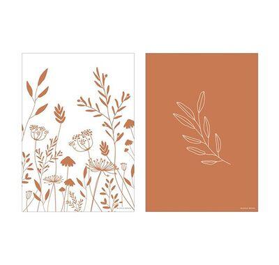 Poster A3 Wild Little Dutch Flowers Rust στο Bebe Maison