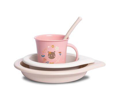 Παιδικό σετ φαγητού Suavinex Forest +6M L3 ροζ στο Bebe Maison
