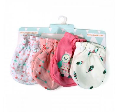 Βρεφικά γαντάκια σετ 3 ζευγάρια Cangaroo Tibby Pink στο Bebe Maison