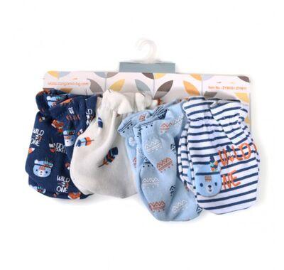 Βρεφικά γαντάκια σετ 3 ζευγάρια Cangaroo Tibby Blue στο Bebe Maison