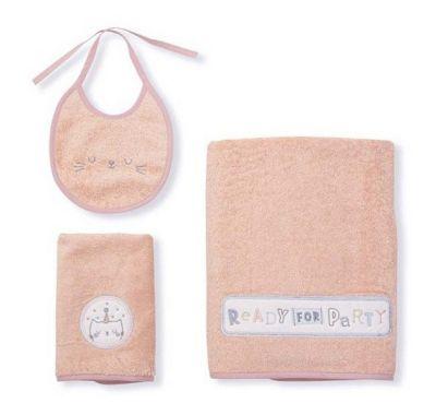 Σετ πετσέτες Funna Baby VIP ροζ στο Bebe Maison