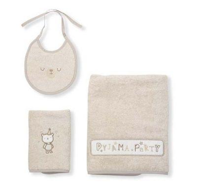 Σετ πετσέτες Funna Baby Pyjama μπεζ στο Bebe Maison