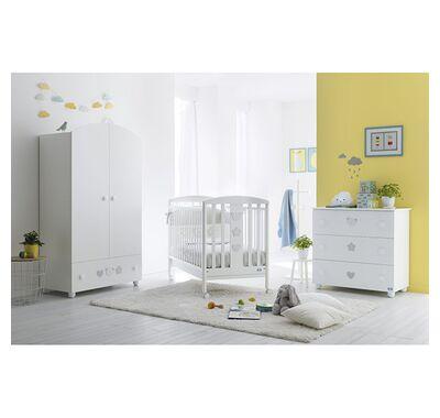Ολοκληρωμένο βρεφικό δωμάτιο Pali Birillo white με μεγάλη συρταριέρα στο Bebe Maison