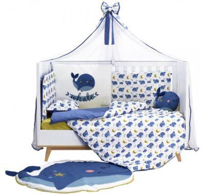 Σετ προίκας μωρού Bebe Stars 9 τμχ Whale στο Bebe Maison