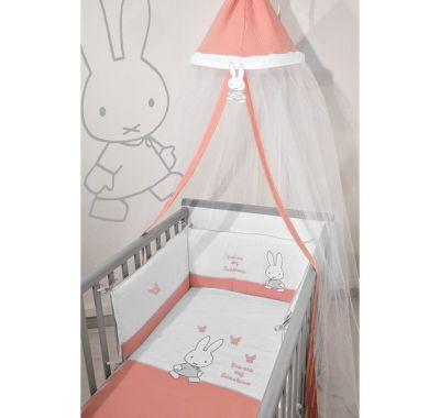 Σετ προίκας μωρού Miffy 3τμχ σχέδιο 62 μουσελίνα σομόν στο Bebe Maison