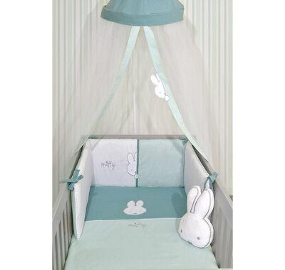 Σετ προίκας μωρού Miffy 3τμχ σχέδιο 63 μουσελίνα μέντα στο Bebe Maison