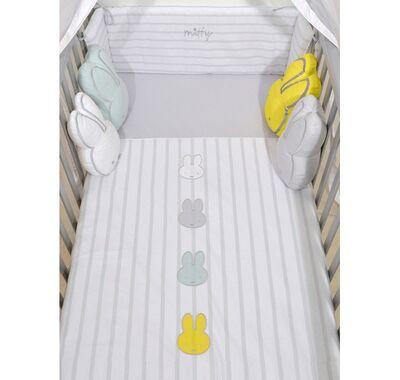 Σετ προίκας μωρού Miffy 3τμχ σχέδιο 66 ριγέ γκρι στο Bebe Maison