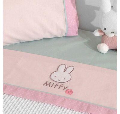 Σετ σεντόνια καλαθούνας-λίκνο 3τμχ Miffy σχέδιο 67 ροζ στο Bebe Maison