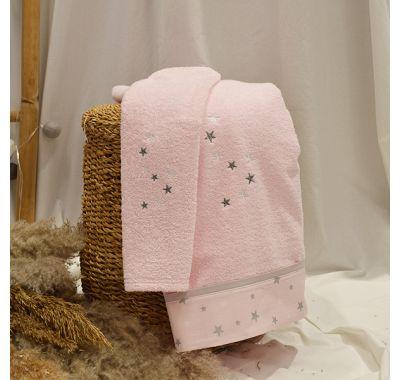 Σετ πετσέτες 2τμχ ABO fox ροζ στο Bebe Maison