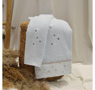 Σετ πετσέτες 2τμχ ABO fox μπλε στο Bebe Maison
