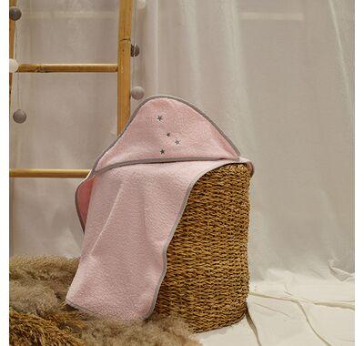 Μπουρνούζι κάπα ΑΒΟ fox ροζ στο Bebe Maison