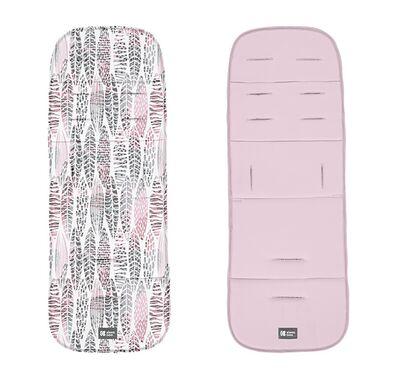 Στρώμα καροτσιού Kikka Boo διπλής όψεως leaves pink στο Bebe Maison