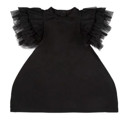 "Παιδικό φόρεμα The Tiny Universe ""The Tiny Wings Dress"" Black στο Bebe Maison"
